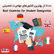 بهترین کشورهای مهاجرت تحصیلی